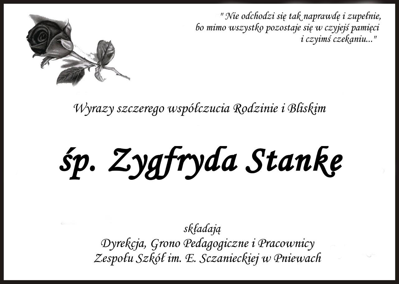 Żyli wśród nas – Zygfryd Stanke