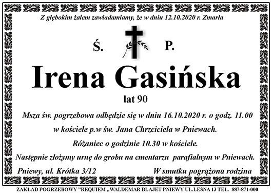 Żyli wśród nas – Irena Gasińska
