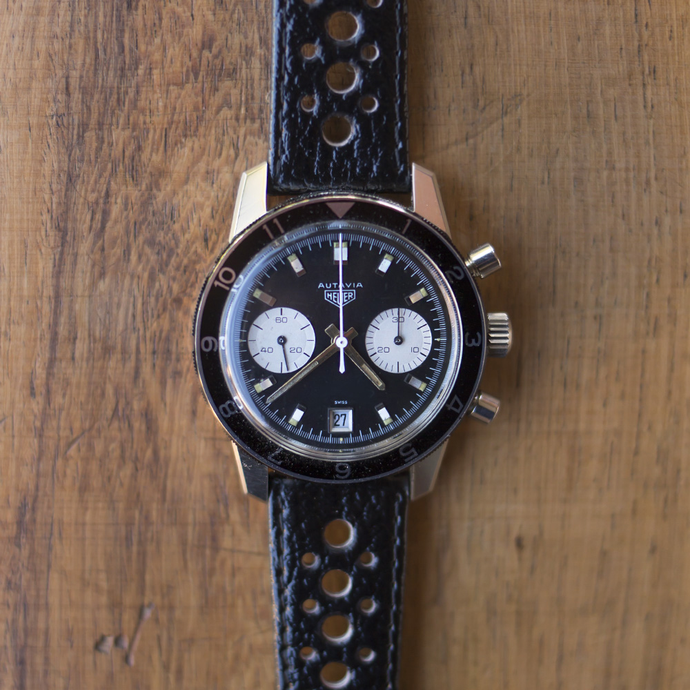 FS this NOS Heuer Autavia ref.7863 Dato. The movement is a valjoux 7863  serviced 3 month ago. The watch comes with a NOS original Heuer band and  buckle.