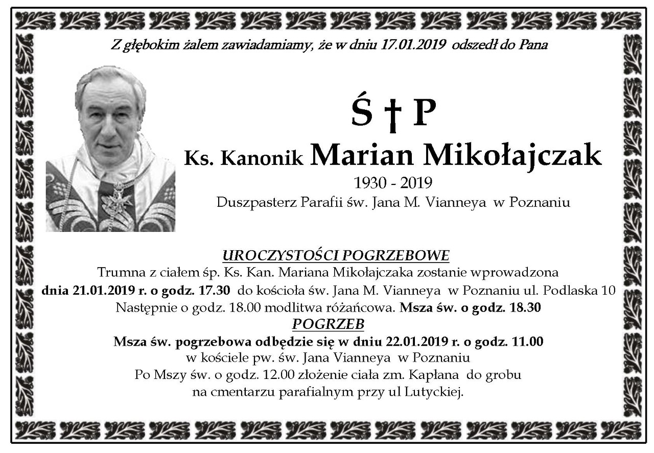 Żyli wśród nas – Marian Mikołajczak