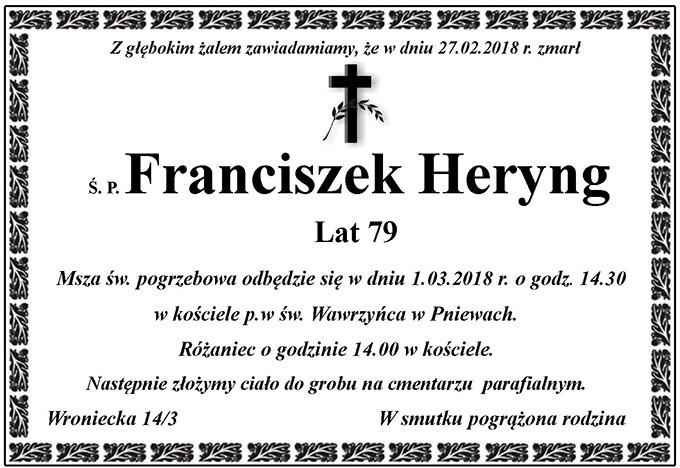 Żyli wśród nas – Franciszek Heryng