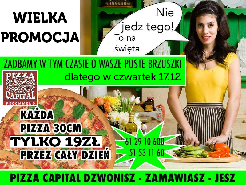 PIZZA CAPITAL ZAPRASZA