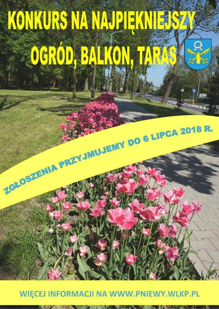 Konkurs nanajpiękniejszy ogród, balkon lub taras