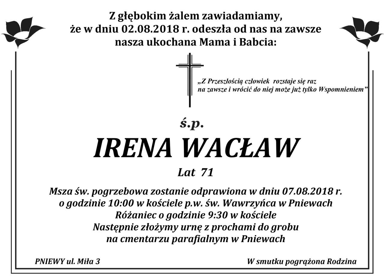 Żyli wśród nas – Irena Wacław
