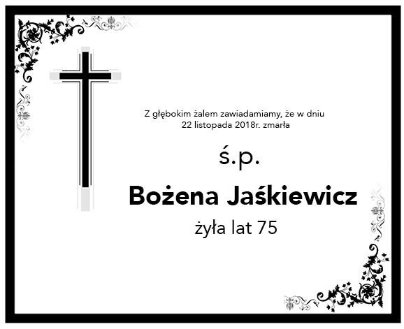 Żyli wśród nas – Bożena Jaśkiewicz