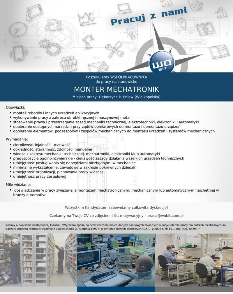Praca dla montera mechatronika