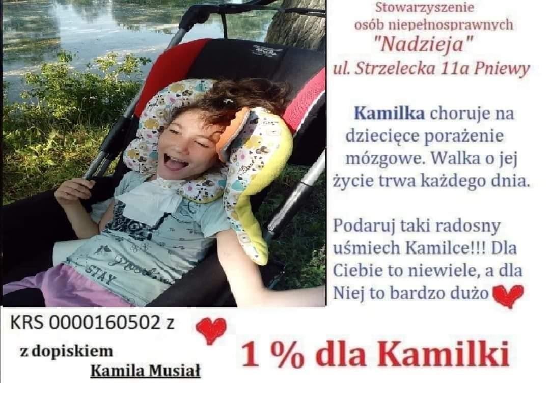 Podaruj 1% dla Kamilki