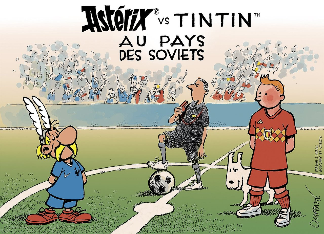 Coupe Du Monde 2018 France vs. Belgique: Astérix vs. Tintin au pays des Soviets FIFA World Cup 2018 Russia France vs. Belgium