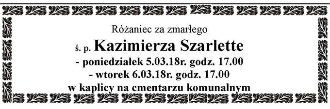 Żyli wśród nas – Kazimierz Szarletta