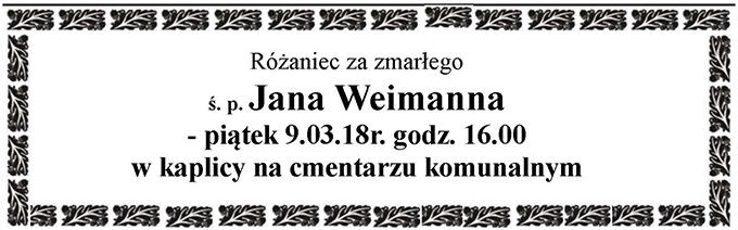 Żyli wśród nas – Jan Weimann