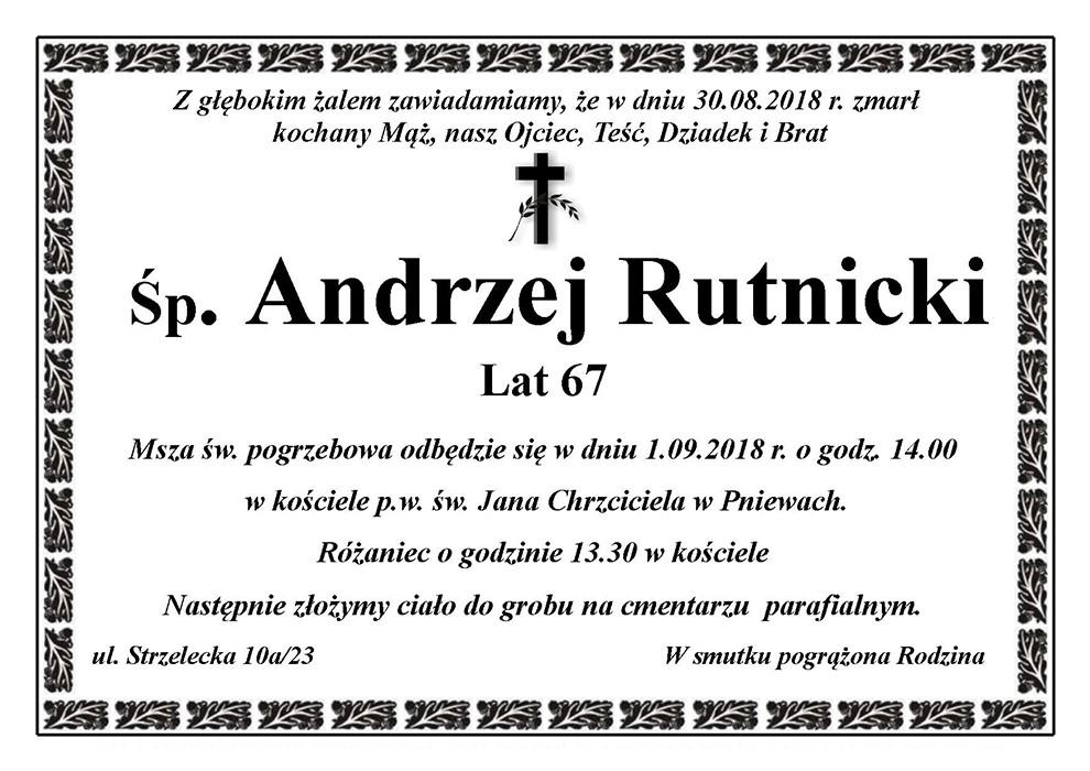 Żyli wśród nas – Andrzej Rutnicki