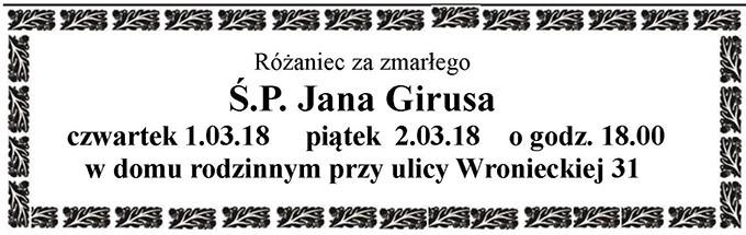 Żyli wśród nas – Jan Girus