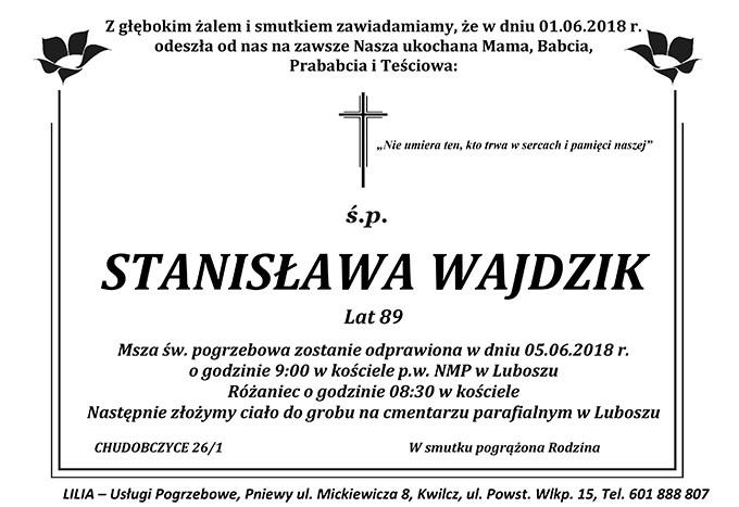 Żyli wśród nas – Stanisława Wajdzik