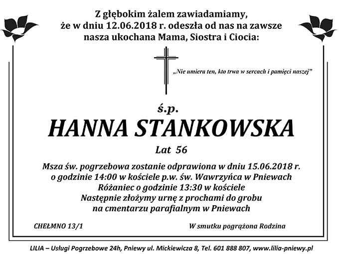 Żyli wśród nas – Hanna Stankowska