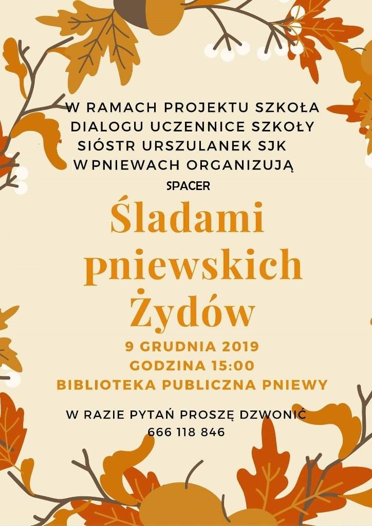 Spacer śladami pniewskich Żydów