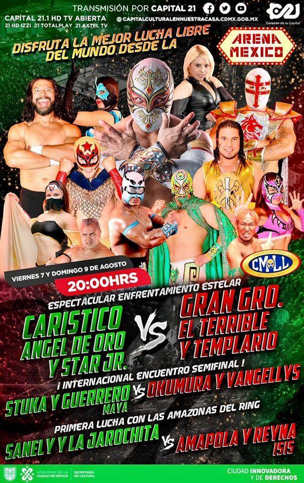 Poster Evento CMLL Lucha Libre Viernes 7 de Agosto del 2020