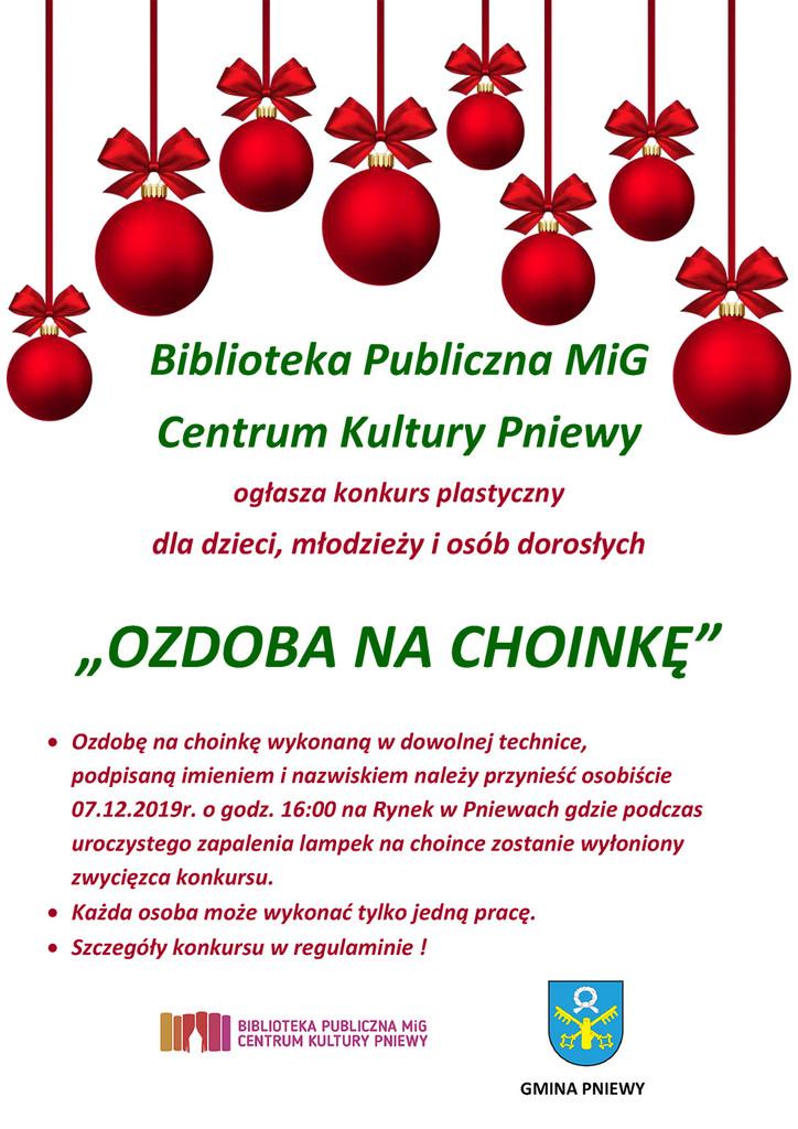 """Konkurs plastyczny """"Ozdoba nachoinkę"""""""