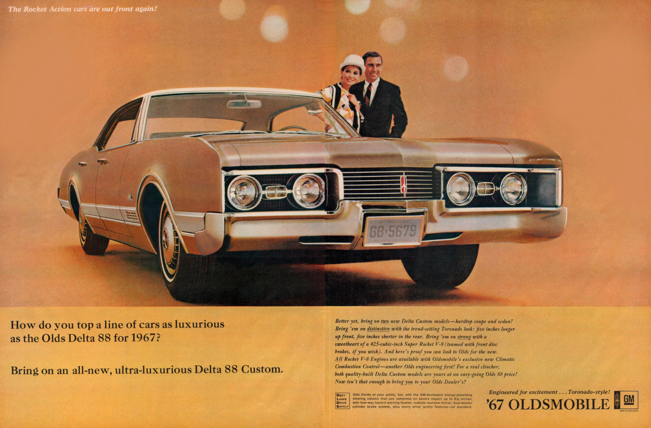 How do you top a line of cars as luxurious as the Oldsmobile Delta 88 for 1967? Bring on an all-new, ultra-luxurious Delta 88 Custom.