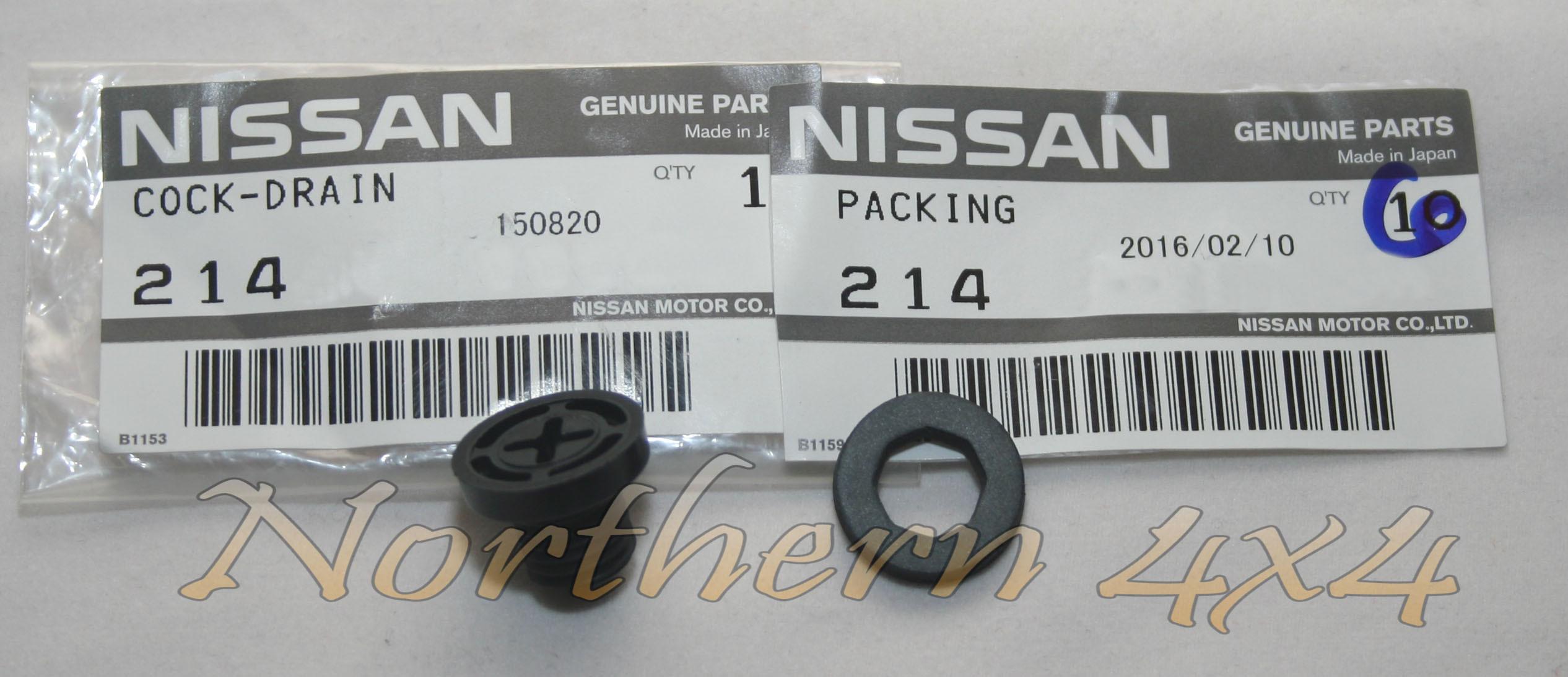 Genuine Nissan Radiator Drain Plug Gasket 21481-18000