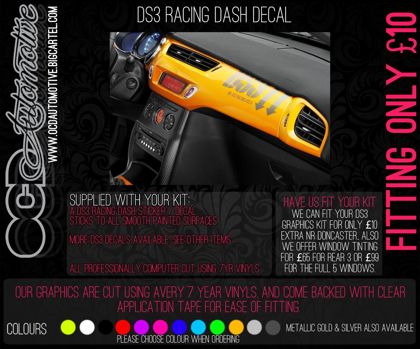 citroen c3 ds3 course tableau de bord stickers graphique kit rally autocollant ebay. Black Bedroom Furniture Sets. Home Design Ideas