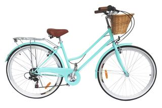 Details about BRAND NEW VINTAGE RETRO LADIES BICYCLE / BIKE 6 SPEED BEACH  CRUISER MINT GREEN