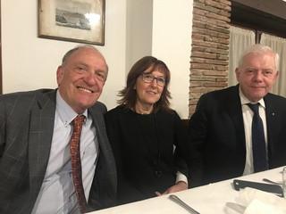 Antonio Fabris con Flavio Lorenzin e signora Antonella