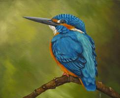 ijsvogel schilderij dierenschilderij