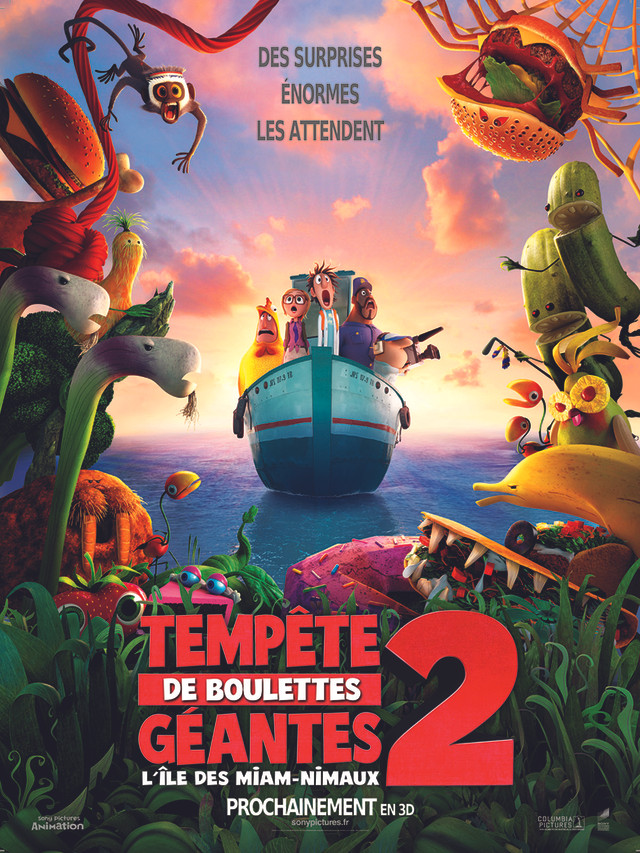 L'île des Miam-nimaux : Tempête de Boulettes Géantes 2 3D