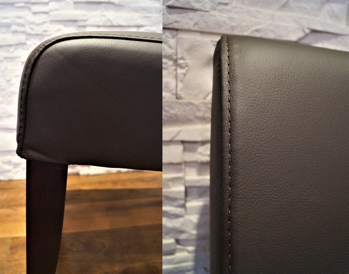 Dunkelbraun Echtleder Stühle Esszimmer Stuhl Lederstühle