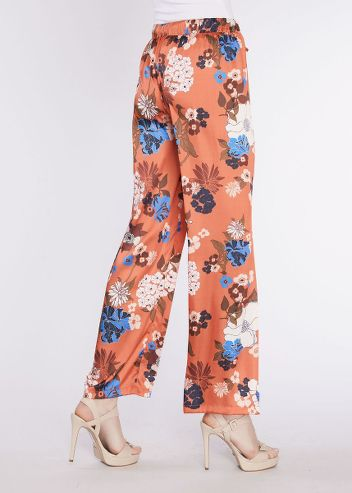 27015d99a084 Pantaloni palazzo a fiori GAUDI' TG.42 | eBay