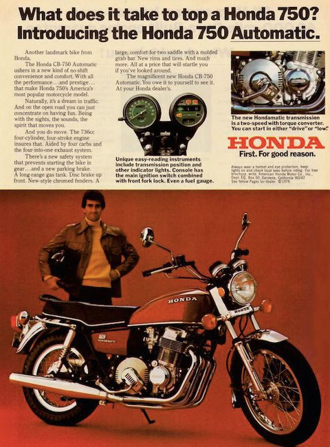 What does it take to top a Honda 750? Introducing the Honda 750 Automatic.