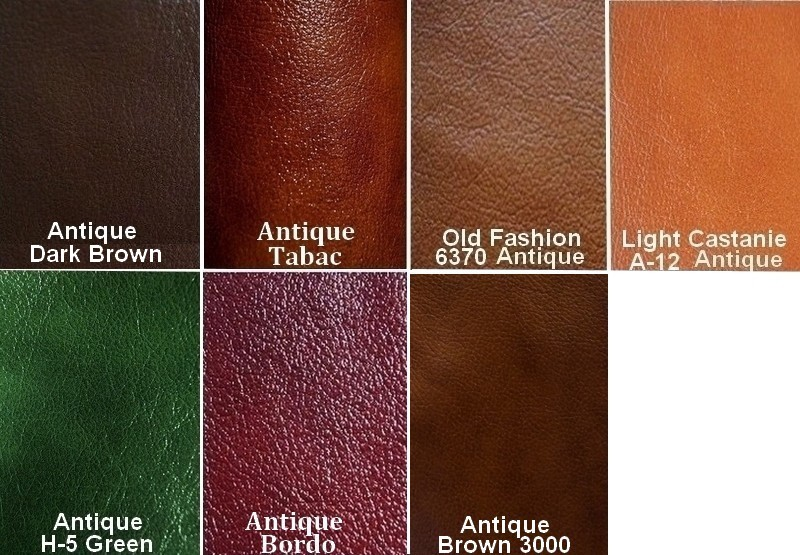 Glossy Brown Real Genuine Leather Seat Cushions Seat Pads for Chairs /& Benches