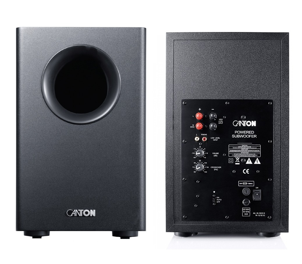 canton movie serie active 100w powered sub subwoofer for home cinema theatre ebay. Black Bedroom Furniture Sets. Home Design Ideas