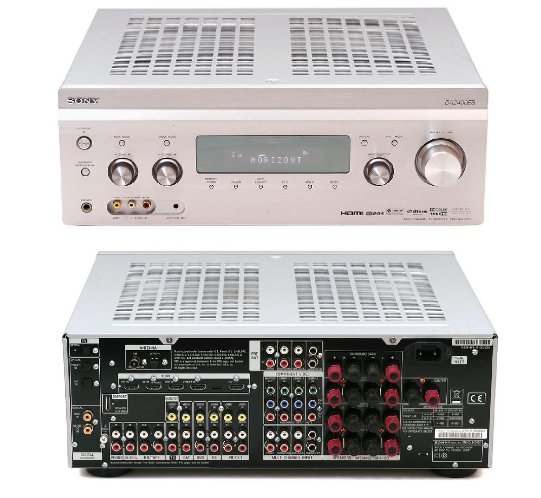 Details About Sony STR DA2400ES 71 AV HD Receiver Amplifier 5x HDMI Silver Amp STRDA2400ES
