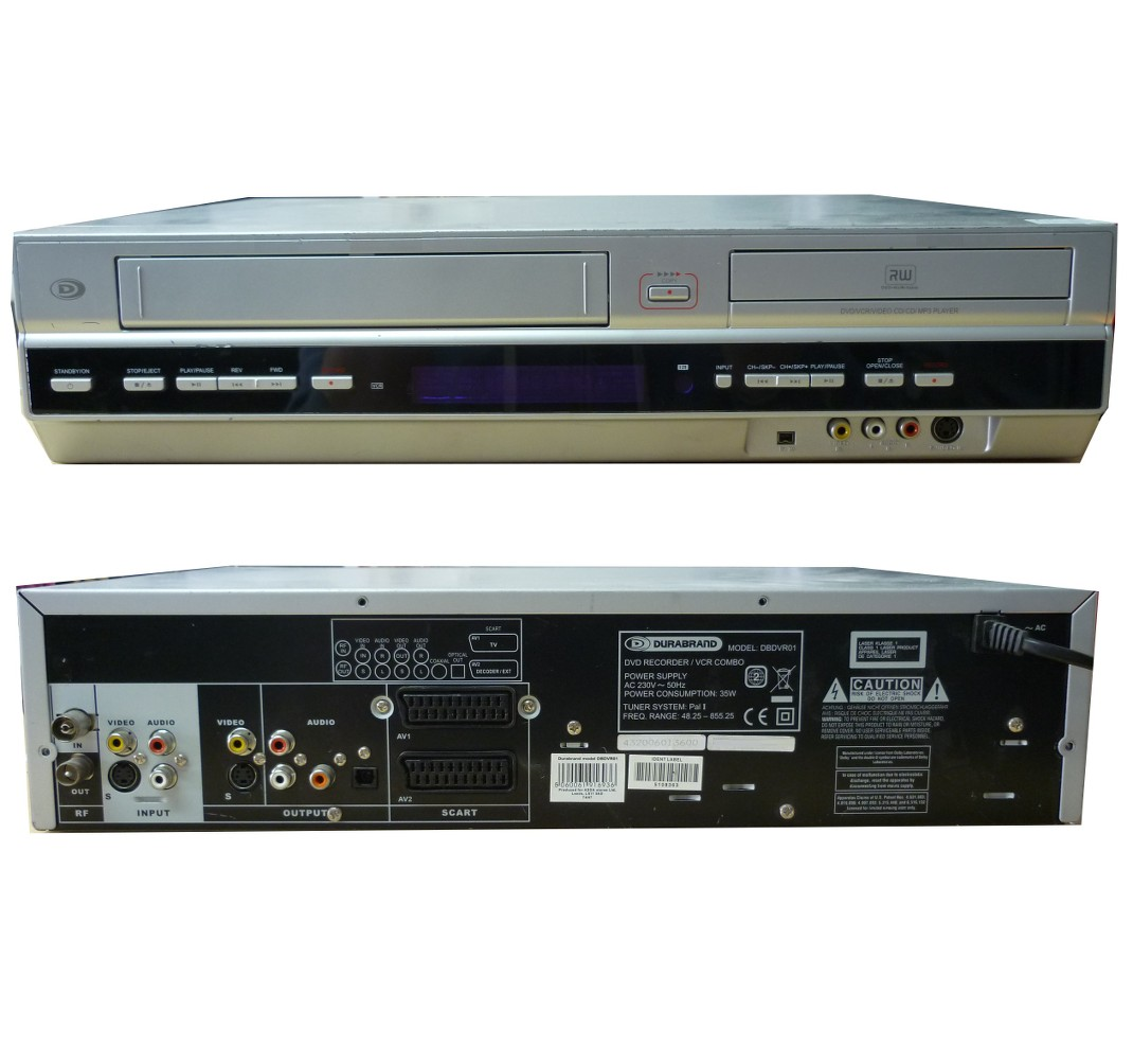 Durabrand dbdvr01 vcr vhs to dvd tranfer combi recorder converter best to convert vhs to dvd and record dvd discs from external sources virginskycctv etc publicscrutiny Images