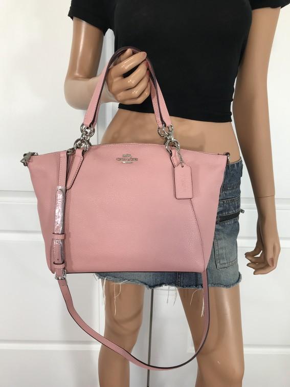 New Coach F28993 Leather Small Kelsey Satchel Shoulder Bag Handbag Petal Pink