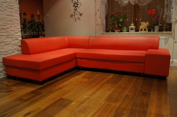 ecksofa echtleder sofa couch mit schlaffunktion rot und andere farben echt leder ebay. Black Bedroom Furniture Sets. Home Design Ideas