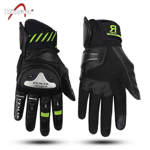 colore nero taglia XL guanti in pelle di alta qualit/à A-Pro per moto scooter