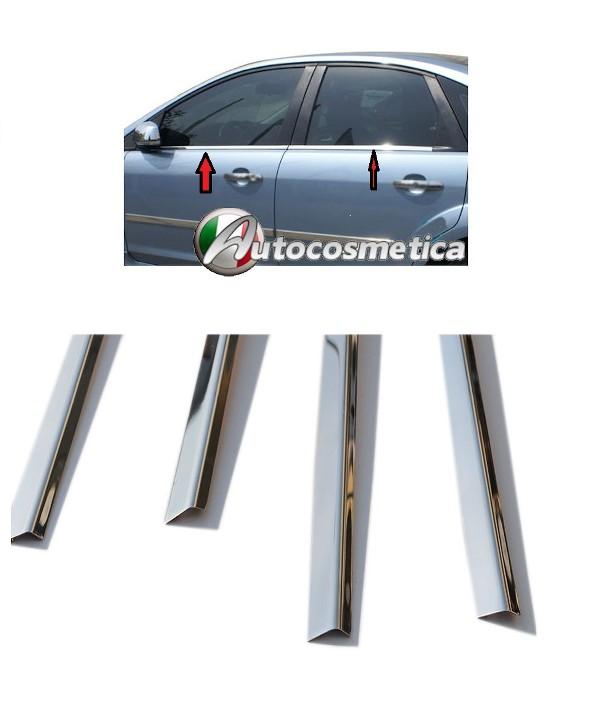 modanature 4 Cornici Porte+4 finestrini in acciaio Satinato Modellati Fiat 500X