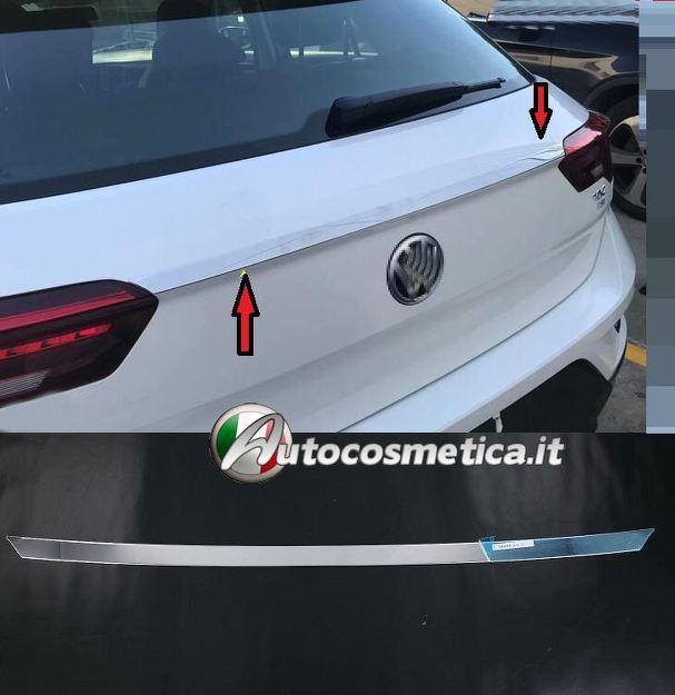 MODANATURA IN ACCIAIO SUPERIORE PORTABAGAGLI CROMO CROMATO VW T-Roc 2017/>