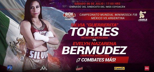 "Silvia Torres vs Evelyn Nazarena ""La Princesita"" Bermúdez en Vivo – Box – Sábado 6 de Julio del 2019"