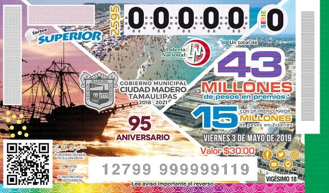 Loteria Nacional Sorteo Superior No. 2595 en Vivo – Viernes 3 de Mayo del 2019