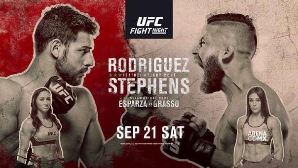 UFC Fight Night 159 México en Vivo – Sábado 21 de Septiembre del 2019