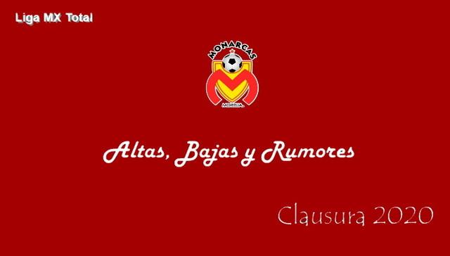 Altas, Bajas y Rumores del  Morelia  – Clausura 2020