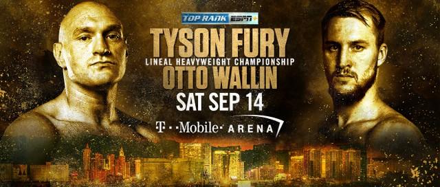 Tyson Fury vs Otto Wallin en Vivo – Box – Sábado 14 de Septiembre del 2019