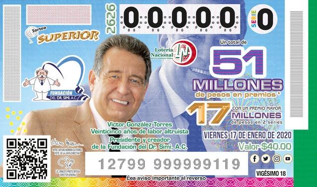 Loteria Nacional Sorteo Superior No. 2626 en Vivo – Viernes 17 de Enero del 2020