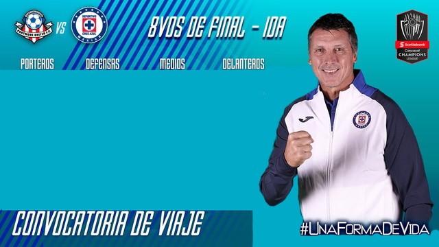 Convocados del Cruz Azul vs Portmore United  -Octavos Final- Concachampions