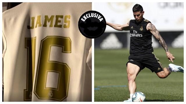 La camiseta de James ya está en la tienda del Bernabéu
