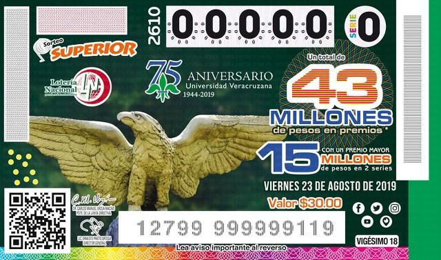 Loteria Nacional Sorteo Superior No. 2610 en Vivo – Viernes 23 de Agosto del 2019