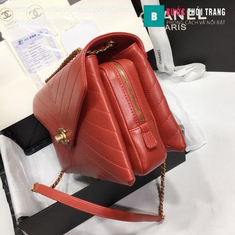 Túi Xách Chanel Envelope Flap Bag siêu cấp màu xanh đỏ 25cm - A57432